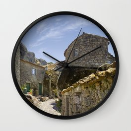 Monsanto, Portugal, a cobbled street Wall Clock