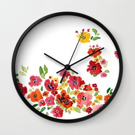 the daily creative project: romantic flowers Wall Clock
