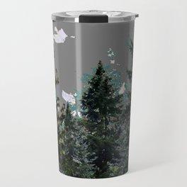 BABY BLUE WESTERN PINE TREES  LANDSCAPE Travel Mug