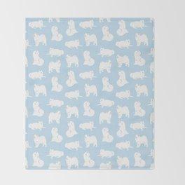 Samoyeds Print Throw Blanket