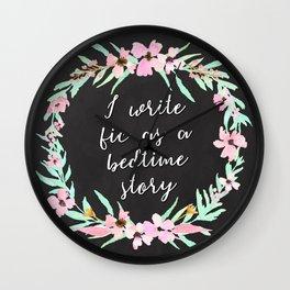 I Write Fic as a Bedtime Story Wall Clock