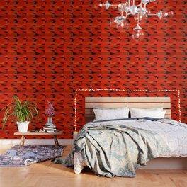 Triangular Patterns in Red Wallpaper