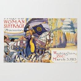 Vintage Women's Suffrage Poster, 1913 Rug