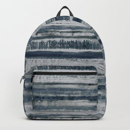 Expressive Indigo Watercolor Stripe Backpack