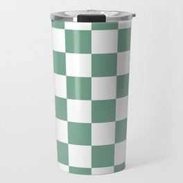 Checkered Pattern: Seafoam Green Travel Mug