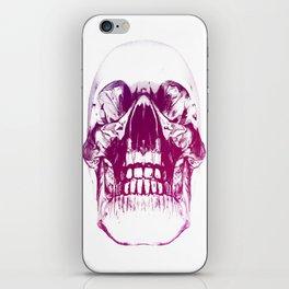 purple crystal skull iPhone Skin
