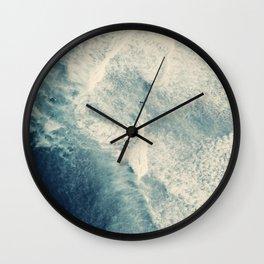 Ice Blue Surf Wall Clock