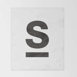 Letter and Line Throw Blanket