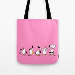 Dancing Albatrosses Tote Bag