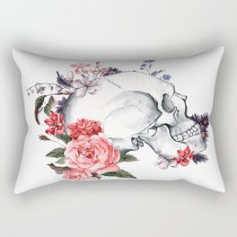 Roses Skull - Death's head Rectangular Pillow
