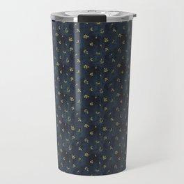 indigo and olive green Travel Mug