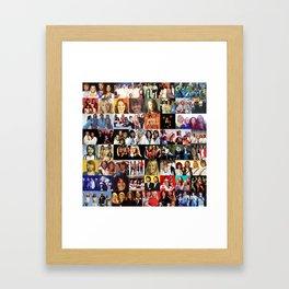 ABBA celebration all over print Framed Art Print