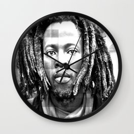 Rasta Man 3 Wall Clock