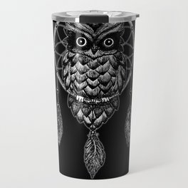 Dream Catcher Owl Travel Mug