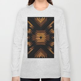 Urban Tribal Pattern No.7 - Aztec - Wood Long Sleeve T-shirt