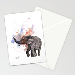 Dancing Elephant Painting Stationery Cards