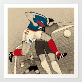 History of Football - 1998 Art Print