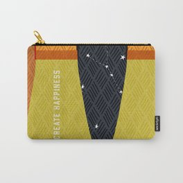 Create Happiness Modern Geometric Masculine Carry-All Pouch