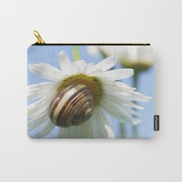 Screw on macro white daisy Carry-All Pouch