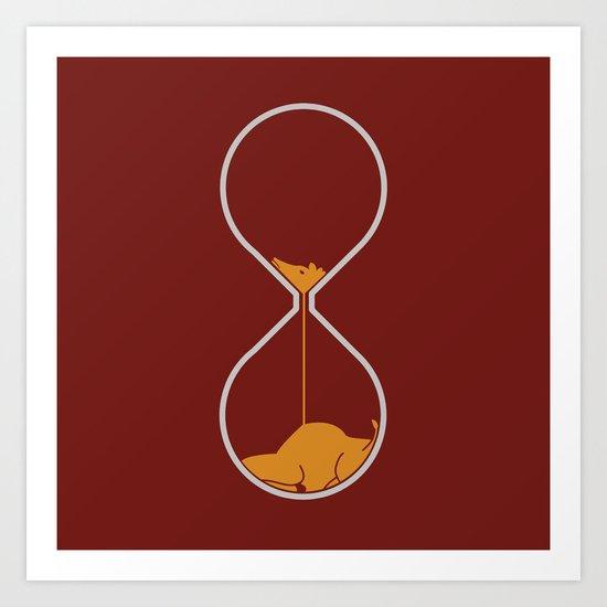 giraffe hourglass Art Print