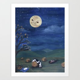 Hey Diddle Diddle Goodnight Art Print