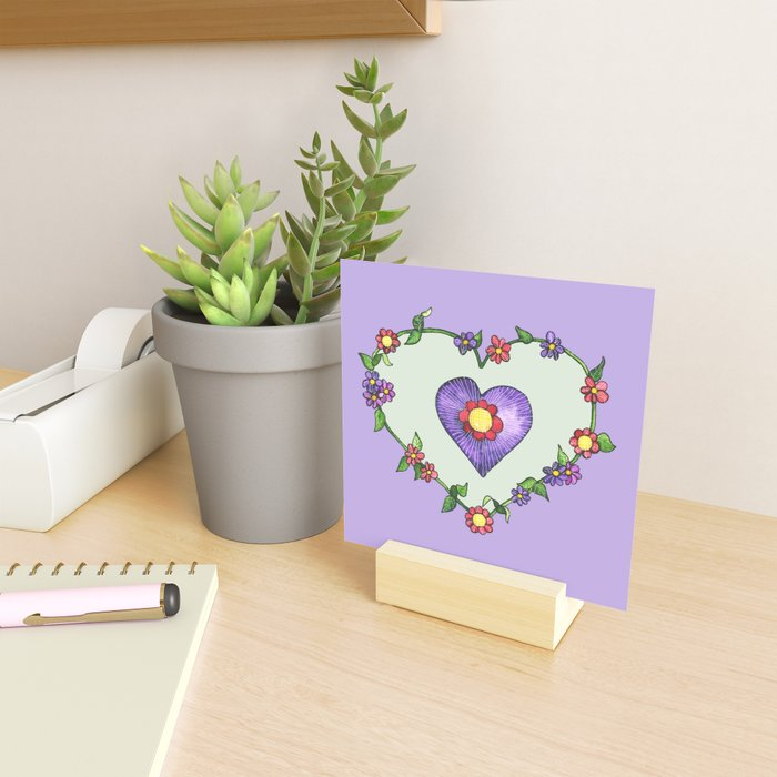 Heartily Floral Mini Art Print