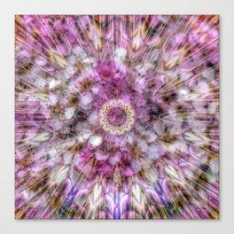 Floral fusion mandala Canvas Print