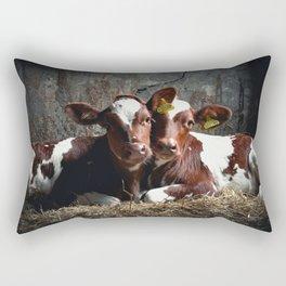 Bovine Friends Rectangular Pillow