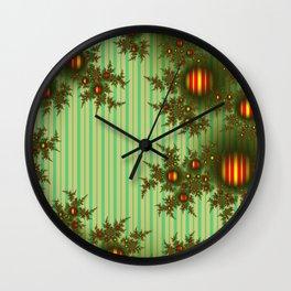 Vintage Christmas fractal Wall Clock
