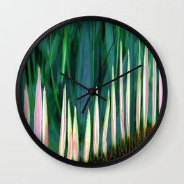 410 - Abstract Flower Design Wall Clock