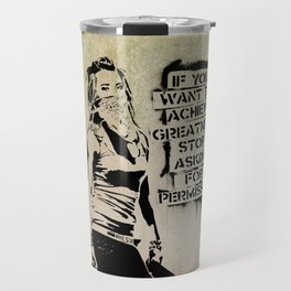 Banksy, Greatness Travel Mug