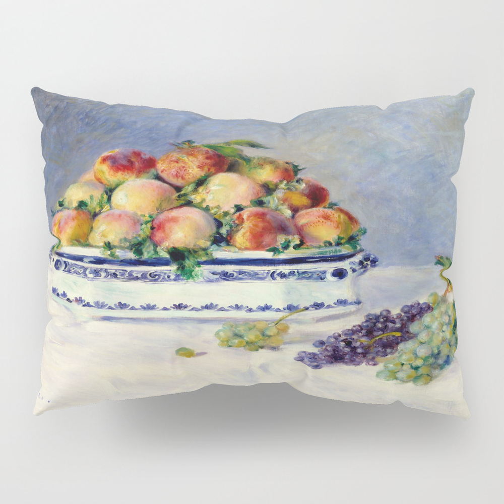 "Auguste Renoir """"still Life With Peaches And Grapes… Pillow Sham by Alexandra_arts"" PSH9097175"