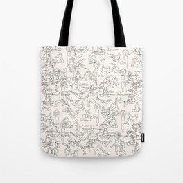 Yoga Manuscript Tote Bag