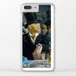 Édouard Manet - The Café-Concert Clear iPhone Case