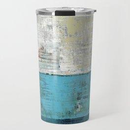 Fairbanks Abstract Light Blue White Travel Mug