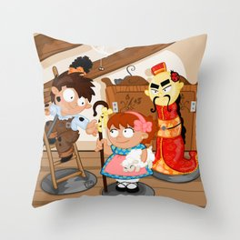 the shepherdess and the chimney sweep Throw Pillow