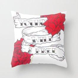 young, wild & free Throw Pillow
