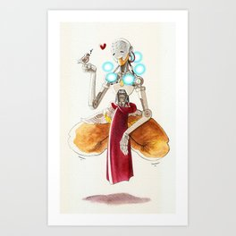 Zenyatta plus a sparrow Art Print