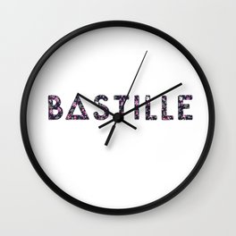 Bastille Flower Logo Wall Clock