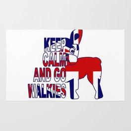 Keep Calm and Go Walkies Two Rug