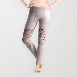 Rose gold - heart Leggings