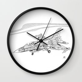 F16 Cutaway Freehand Sketch Wall Clock