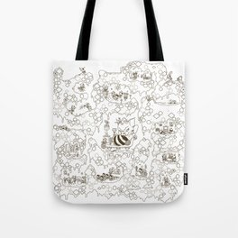 a swarm of bees (벌떼방클럽) Tote Bag