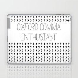 Oxford comma Enthusiast, Grammar Love, Writing, Writer Laptop & iPad Skin