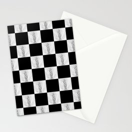 Checkerboard Pussy Stationery Cards