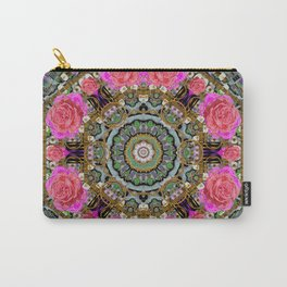 roses in a color cascade of freedom and peace Carry-All Pouch