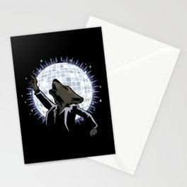Howling at the Disco Moon Stationery Cards