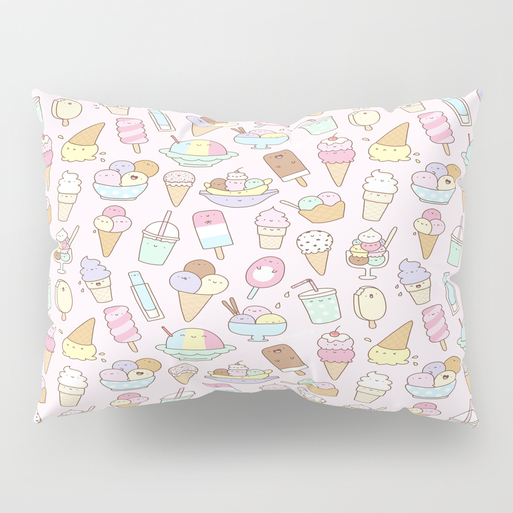 I Love Ice Cream Pillow Sham by Kirakiradoodles PSH8006791