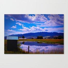 'Blue Skies Smilin' at Me Canvas Print