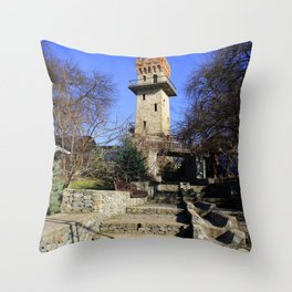 Ancient watchtower. Throw Pillow